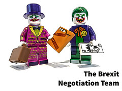 The Brexit Negotiation Team (tim constable) Tags: eu negotiate negotiations team dreamteam lol laugh joke funny comedy humour humorous thejoker brief jokercard brexit eureferendum politics political timconstable prepared preparation lego minifigures minifig clown professional
