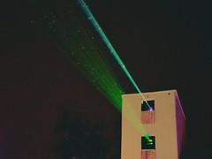 Creepy Cyclops robot eats your dreams (citron_smurf) Tags: merriweather merriweatherpostpavilion laser christmas lights symphonyoflights columbia maryland howardcounty