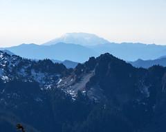 View of Mt. St. Helens from Mt. Rainier above timberline (wplynn) Tags: mtrainiernationalpark mountrainiernationalpark mtrainier mountrainier mt mount mountain rainier volcano volcanic washington state cascade cascaderange mtsthelens timberline mountsthelens