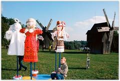 "Carousel for children. These dolls (""motanka"") are a pagan amulet. (Ігор Кириловський) Tags: carousel children doll motanka pagan amulet c41 slr nikonf5 af zoomnikkor 28105mmf3545d film kodak ektar100 promaster spectrum 7uv flash nikon speedlight sb28 fillflash hutsulianwedding bukovina chernivtsi ukraine"