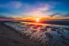 Last Light (IzTheViz) Tags: sunset leporge arcachon aquitaine ilce7r a7r france atlantique reflets reflection beach sun variotessartfe41635