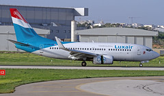 LX-LGQ LMML 22-10-2017 (Burmarrad (Mark) Camenzuli) Tags: airline luxair luxembourg airlines aircraft boeing 7377c9 registration lxlgq cn 33802 lmml 22102017
