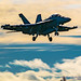 Artistic Look at EA-18G Gliding Into OLF