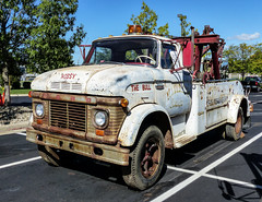 """Tom's N-600 Ford Holmes W-45  Twin Boom Equipped Tow Truck - """"Hossy The Bull"""" (J Wells S) Tags: fordn600 holmesw45twinboom wrecker towtruck rust rusty crusty tomrohrich historictruck vintagetruck mikestowingrecovery aths americantruckhistoricalsociety holmestwinboom trao towingandrecoveryassociationofohio midwestregionaltowshow greatwolflodge mason cincinnati ohio antiquewrecker vintagetowtruck historictowtruck franksautoservice hossy thebull"""