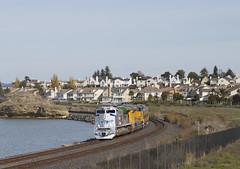 Passenger Special at Hercules (imartin92) Tags: hercules california unionpacific passenger train railroad emd sd70ace locomotive sanpablo bay