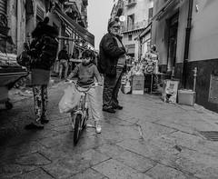 Riding in the street (alessandrochiolo) Tags: sicilia siciliabedda street streetphoto sky streetphotografy streetphotography strada biancoenero bw bn blackandwhite fujix30 fuji fujifilm ontheroad