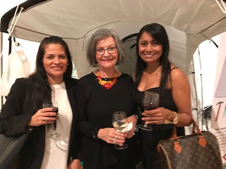 Art Circuits Publisher Liana Perez, with her Public Relations' team: Yoleida Salazar (left) and Dora Rojas (right).