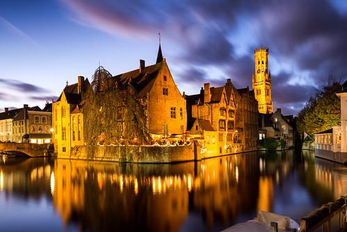 The historic center of Bruges / Spiegelrei 2017
