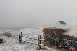 Tempête de Neige à Cap-des-Rosiers