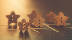 Tic Tac Toe (Ro Cafe) Tags: backlit mm macro macromonday member'schoicegamesorgamepieces tictactoe woodenbuttons backlight blackboard goldentones nikkormicro105f28 nikond600 setup
