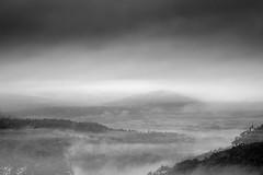 After the Storm no.4 (SopheNic (DavidSenaPhoto)) Tags: storm whitemountains bw doubleexposure clouds contrast bnw monochrome multipleexposure 55mmf17 fuji newhampshire fog xe1 blackandwhite rokkorlens rain