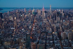 A view from One World (beyondhue) Tags: new york manhattan blue hour one world observatory empire state building architecture beyondhue usa travel roadtrip light skyline