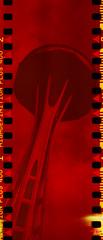 I am the thread (No Stone Unturned Photography) Tags: expired falcon folding camera automatic model 2 120 film art deco vintage sprocketholes redscale polaroid agfa highdefinition 400 seattle space needle