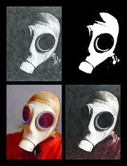 Gasmaskvariations (heinzkeller804) Tags: phototasticapp gasmask dräger rubberhood latexhood fetish rubberslave bdsm