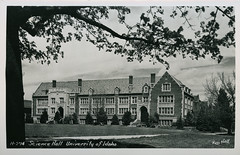 Science Hall, University of Idaho, circa 1940s - Moscow, Idaho (Shook Photos) Tags: postcard postcards universityofidaho ui education learning highereducation university college sciencehall moscowidaho moscow idaho latahcounty