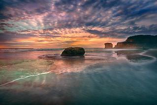 Rocks at Muriwai Beach