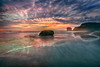 Rocks at Muriwai Beach (lfeng1014) Tags: sunset rocksatmuriwaibeach clifftopgannetcolony rocks blackandwhite blacksandbeach muriwai muriwaibeach aucklandregion northisland newzealand nz landscape canon5dmarkiii ef1635mmf28liiusm travel lifeng
