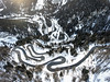 Mountain traffic (Chris Herzog) Tags: ifttt 500px trees landscape forest winter nature travel car curve drive road aerial woods remote explore photography leading line drone maloja switzerland dji