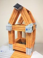 Timber frame house (ISO_rigami) Tags: modular origami 3d a4 zebra framework