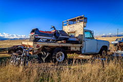 Ready for Anything (D E Pabst Photography) Tags: abandoned automotive motorcycle neglected rusted snowmobile truck