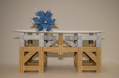 Modular origami table (ISO_rigami) Tags: modular origami a4 zebra 3d table paper construction