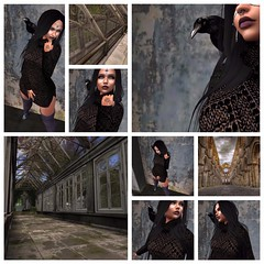 Crow_museme (Lore_lies) Tags: crow dar avatar sl secondlife lips knitted socks windows steel beams nature inworld girl blackhair witch wicca voodoo magic thecliffsofdover