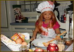 Ich rühr schon mal den Teig an ... (Kindergartenkinder) Tags: advent weihnachtsbäckerei backen plätzchen kindergartenkinder annette himstedt dolls tivi sanrike