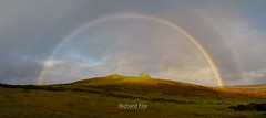 Supernumerary (http://www.richardfoxphotography.com) Tags: rainbow panorama dartmoornationalpark haytor tor granite bow sunrise outdoors supernumeraryrainbows
