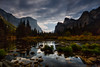 Moonbeams Over Yosemite (Jeffrey Sullivan) Tags: moonlight moon rays moonbeams night light yosemite national park fall colors workshop november 2017 canon eos 6d landscape nature travel photography mariposa county california sierra nevada valley village for mist weather clouds valleyview yosemitevalley mercedriver reflection