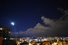 La tormenta de agua se acerca (MJ Art. https://www.instagram.com/majochicaiza/) Tags: moon decemberrain flickfriday quito nubes azul ecuador luces estrellas