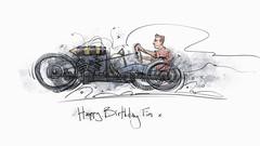 hornet s (Stefan Marjoram) Tags: sketch drawing ipad pro procreate apple pencil car vintage racing plein air