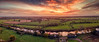 On fire... (Kerriemeister) Tags: drone mavicpro sky sunset clouds aerial york river ouse fields reflection