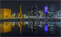 Liverpool Waterfront (Charles Connor) Tags: reflections liverpool liverpoolwaterfront cityscape nightshots lowlight colours longexposure canon6d canon24105lens