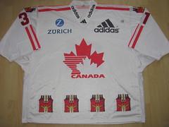 Team Canada 1999 Spengler Cup Game Worn Jersey (kirusgamewornjerseys) Tags: spengler cup davos game worn jersey team canada ice hockey teamcanada spengercup derrick walser joaquin gage derrickwalser joaquingage