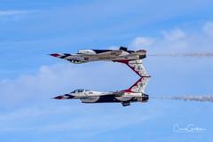 Honoring those who serve (craig goettsch) Tags: aircraft jet f16 veteransday nellisafb thunderbirds precision nikon d810