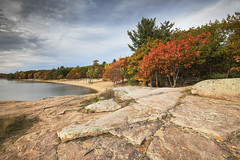 Autumn in Killbear Provincial Park (angie_1964) Tags: autumn fall killbear provincial park ontario canada nikond850 water nature bay seascape landscape rock