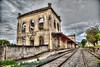 Cachoeira Paulista old Train Station abandoned (anastase.papoortzis) Tags: orange wideangle cachoeirapaulista sãopaulo brasil br