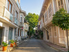 Street with traditional houses (✦ Erdinc Ulas Photography ✦) Tags: traditional houses istanbul adalar street bicycle house turkish turkey flower plant wood kids sun panasonic light green sky window