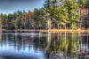 Autumn Freeze (macnetdaemon) Tags: ice pond reflection hdr canon 7d markii reed