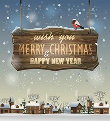 merry christmas and happy new year (everythingisfivedollar) Tags: snow winter vector wood card holiday background ornament tree banner decoration xmas north noel magic light board wintertime greeting bird white new night evening christmas season illustration design blue postcard merry december snowflakes invitation art vintage nature eve happy landscape year village house street symbol show zzzaabaaabdb santa