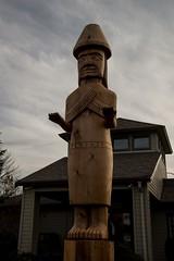 DSC_7784 (Copy) (pandjt) Tags: chilliwack bc britishcolumbia stólō stolo yakweakwioose firstnation yakweakwioosefirstnation terryhorne chiefterryhorne welcomefigures welcome sculpture carving publicart canada150