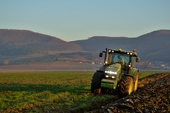 John Deere 8345R with Lemken plows (Adam Rehák) Tags: czphoto john deere plowing field autumn