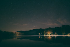 Price Lake (scottshuffler) Tags: blueridgeparkway grandfathermountain starry stars night trail statepark northcarolina nc park lake price pricelakepark