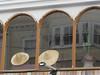 La Mexicana, 32 King Street, Great Yarmouth, Norfolk (LookaroundAnne) Tags: gwuk restaurant mexican hat sombrero arches windows cactus greatyarmouth yarmouth norfolk