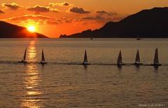 A classic sunset (- Crupi Giorgio (official)) Tags: lerici italy sea seascape sunset sky sun ship clouds nature canon canoneos7d canon70300mm