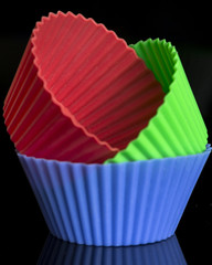Cupcake Cases (Crisp-13) Tags: silicone macro mondays stone rhyming zone cup cake cupcake cases red green blue