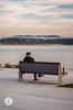 Sentado y Mirando la Bahía (Jesús Hermosa) Tags: 75300mm agua bahia bay cantabria cielo cloud españa gente hombre man mar nube people santander sea sky sonya200 sonyalpha spain water