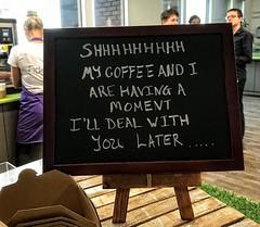Humour at office cafe (dksesh) Tags: seshadri dhanakoti harita hevilambisamvatsara apple iphone office officecafelboard sesh seshfamily haritasya hevilambi appleiphone7 appleiphone iphone7 cafe coffee
