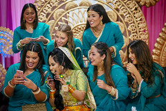 The spanish bridesmaids (A. adnan) Tags: wedding candid moment bride bridesmaids bangladeshi spanish holud sangeet