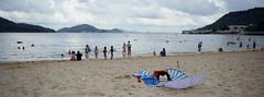 beach (Steve only) Tags: hasselblad xpan 445 454 45mm f4 rangefinder kodak pro image 100 film epson gtx970 v750 snap island 梅窩 sea sky cloud